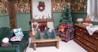 casa de muñecas salon en navidad