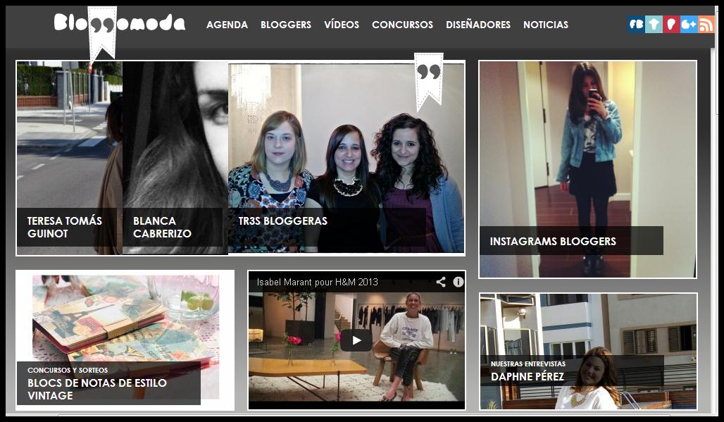 Entrevista a tr3sbloggeras Con la realidad en los talones en Bloggomoda
