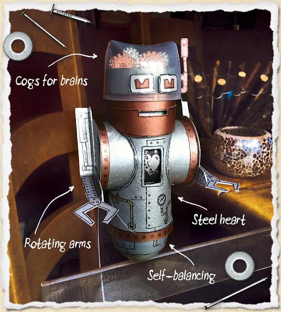 Super Robot col Riciclo di Rotoli di carta Igienica