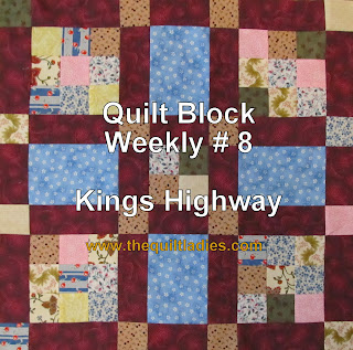 how to piece king's highway quilt block