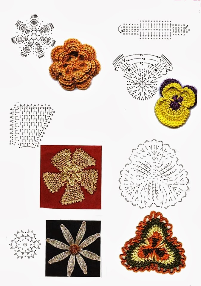 Uncinetto e crochet raccolta schemi uncinetto piastrelle - Schemi piastrelle uncinetto ...