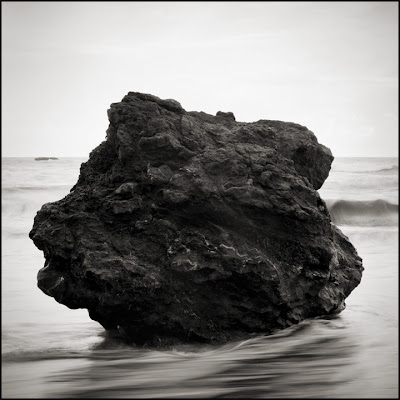 Trinidad, CA - Black and White Seascape