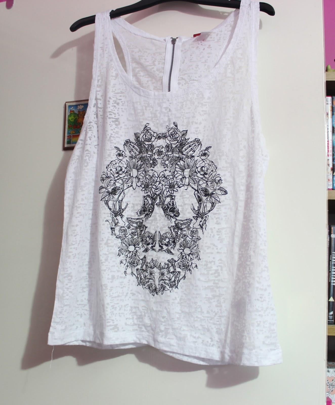 White Skull Top