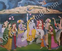 Krishna Pickup Goverdhan Parvata