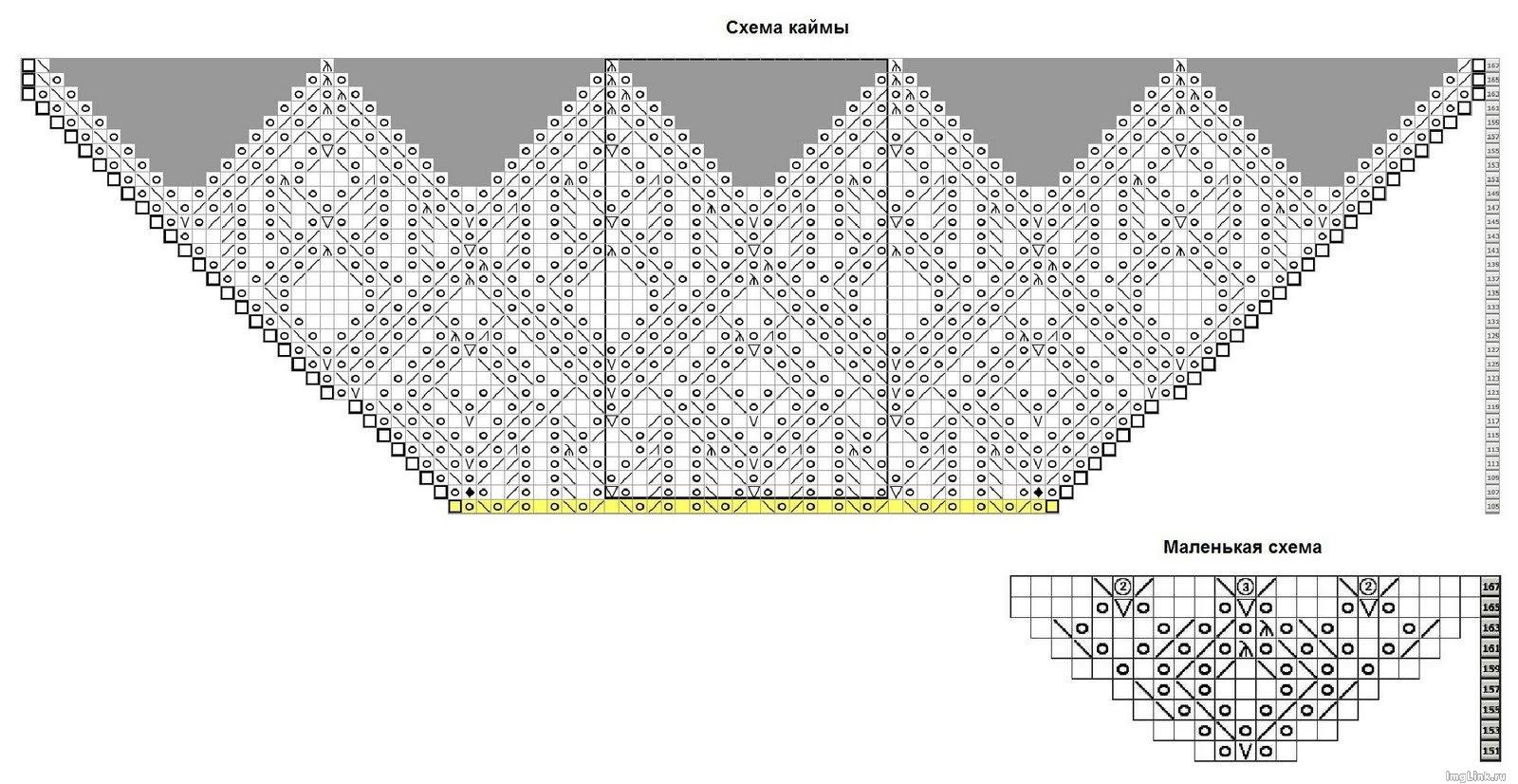 Ажурные косынки шали схемы 128