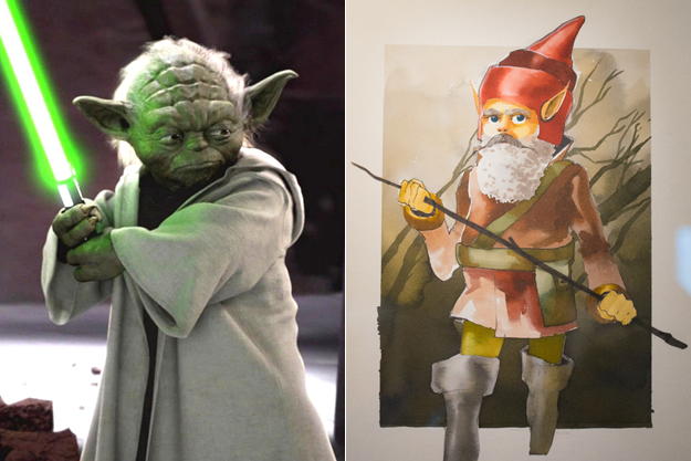 Yoda Character Design : Early movie concept art domestic sanity