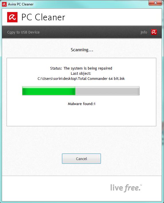 صورة لبرنامج حذف الملفات الخبيثة Avira PC Cleaner