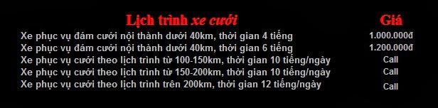 Bảng giá cho thuê xe cưới Honda Civic tại Hà Nội
