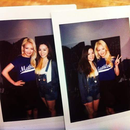 [Picture] 130608 Hyoyeon with Joey Wong
