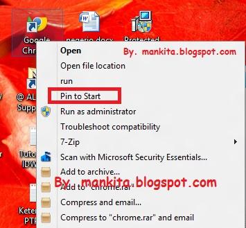 Shortcuts ICON METRO UI Windows 8