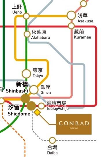 map tokyo tsukiji ueno ameyoko