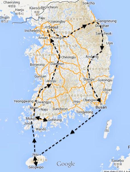 Around Korea In Days Part Jeonju And Cheongju Koreasti - Jeongju map