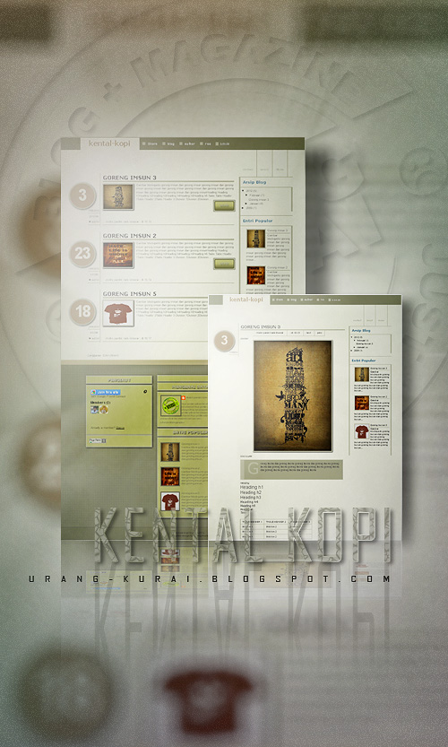 Kental - kopi template