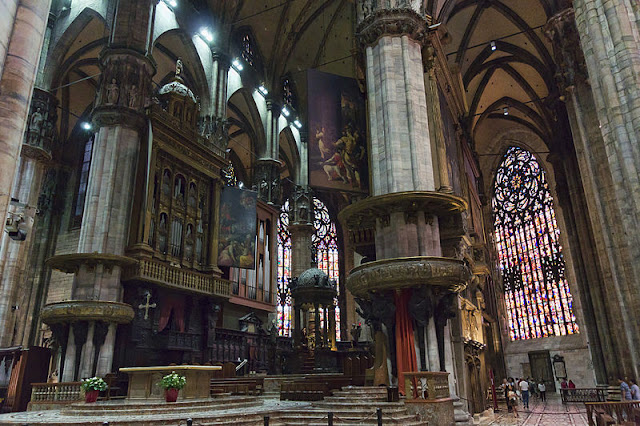 Interior shot of the Milan Cathedral in Italy. Photo: Jean-Christophe Benoist.