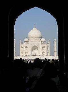 Тадж-Махал - вид из арки