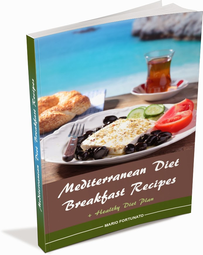 Mediterranean diet recipes for a healthy eating diet with a