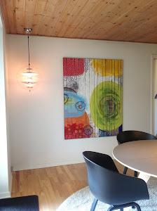 Indret med malerier/ Solgt - Sold Hænger hos kunden.