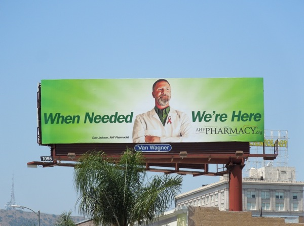 AHF Pharmacy When needed billboard
