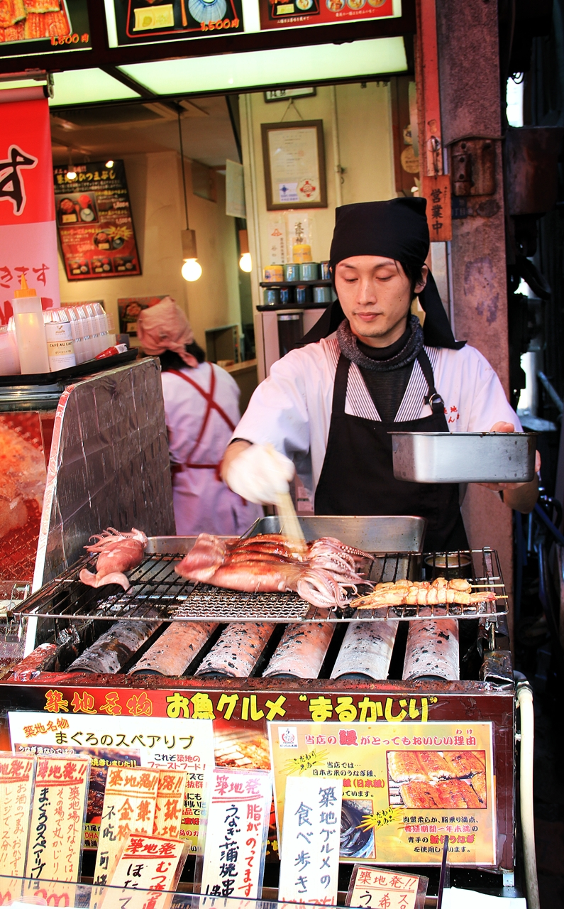Cuisine paradise eat shop and travel day 5 tsukiji for Tsukiji fish market