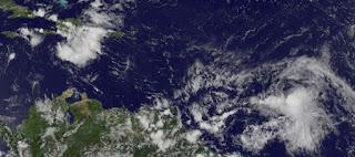 Tropischer Sturm ERNESTO wird immer wahrscheinlicher, Ernesto, aktuell, Karibik, Atlantische Hurrikansaison, Hurrikansaison 2012, August, 2012, Satellitenbild Satellitenbilder, Dominikanische Republik,