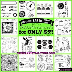 Get an EXCLUSIVE stamp set for $5 or FREE in July 2015!!!