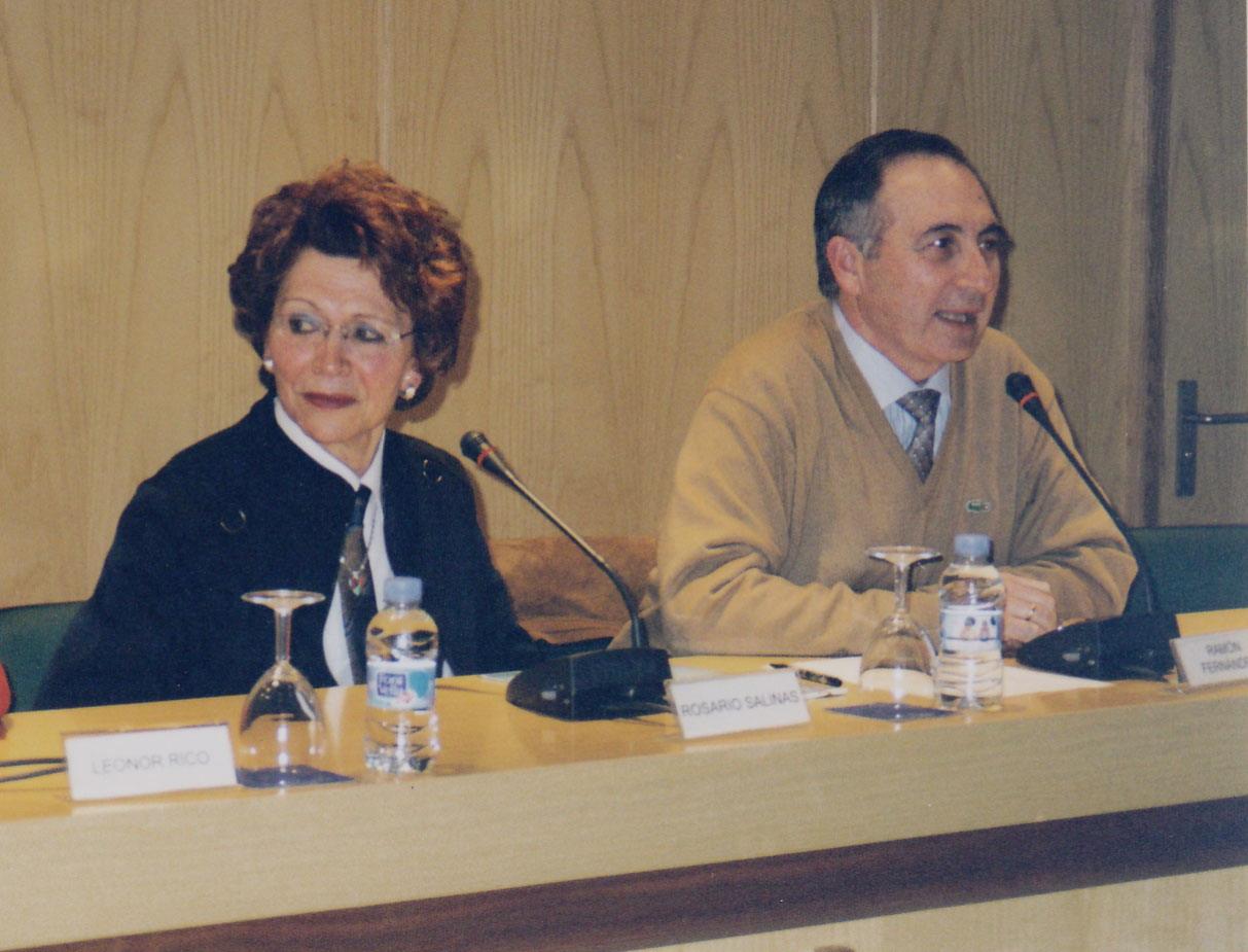 Rosario Salinas con Ramón Palmeral