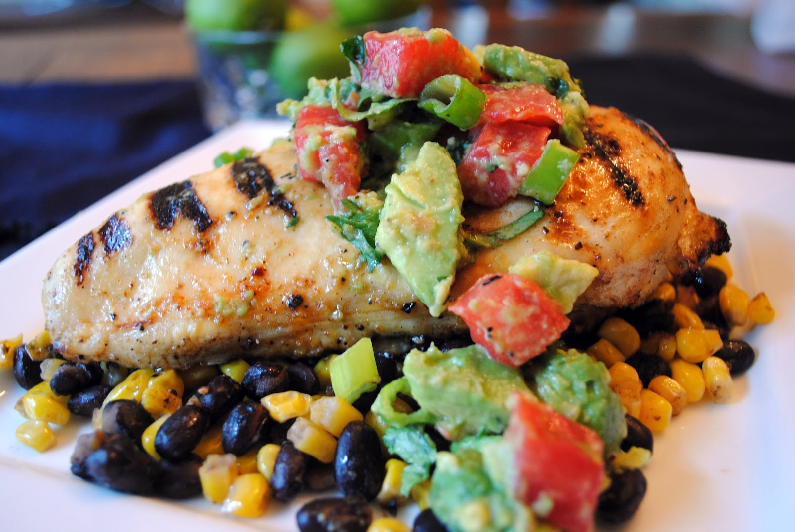 Cilantro-Lime Grilled Chicken with Skillet-Fried Black Beans & Corn ...