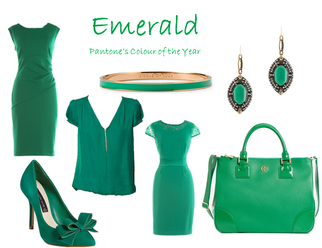 pantone, emerald, fashion, colour, style