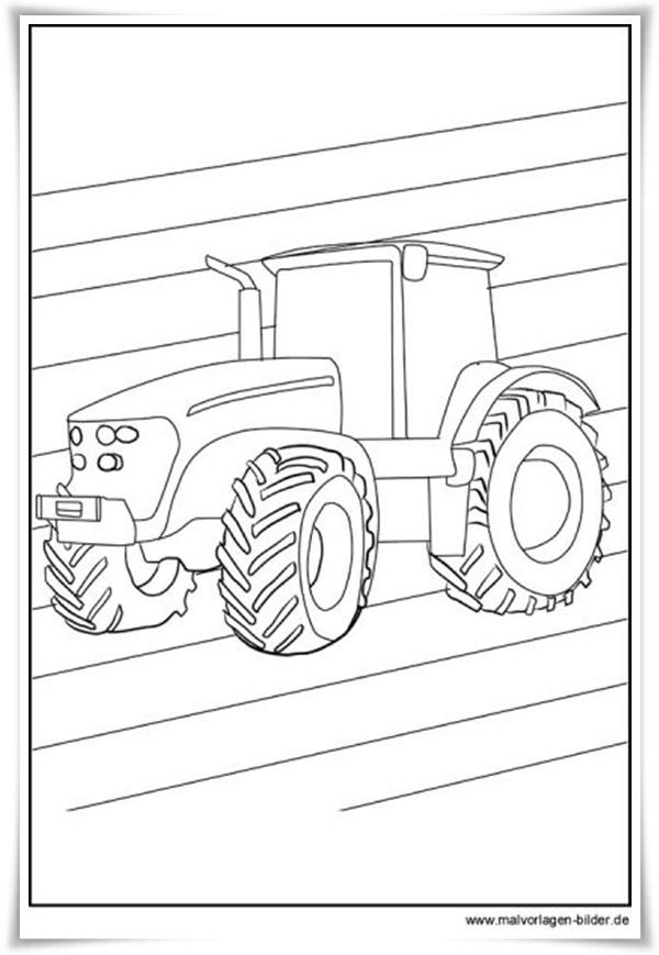 Malvorlagen Traktor Kostenlos - Malvorlagen kleiner roter Traktor, Kostenlose - Pinterest