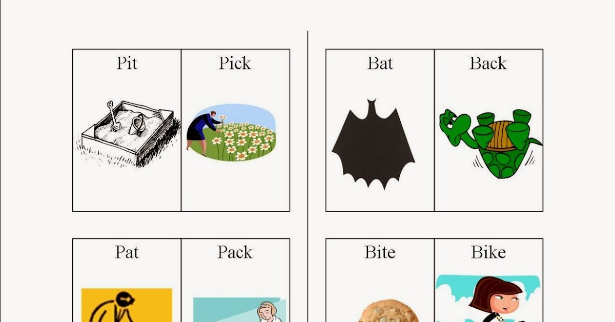 speech k minimal pairs with initial p and b