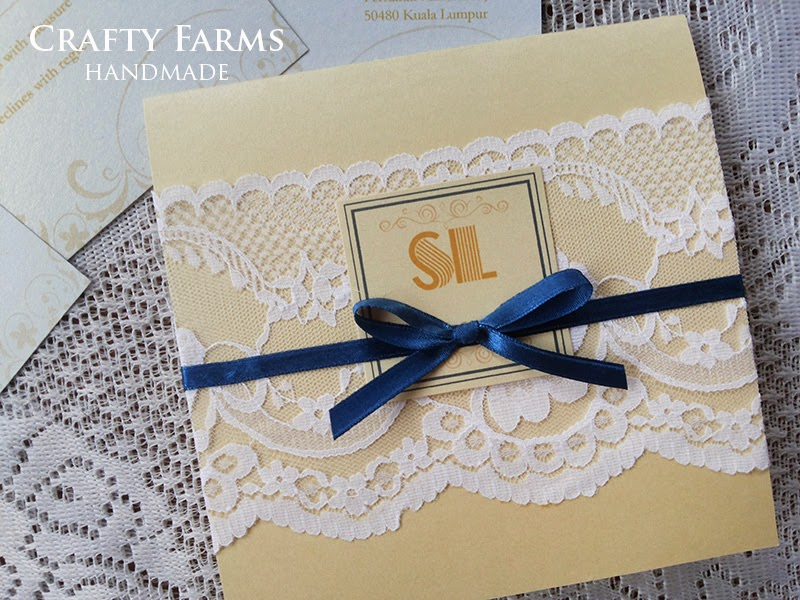 Wedding banquet invitation card at Carcosa Seri Negara Kuala Lumpur