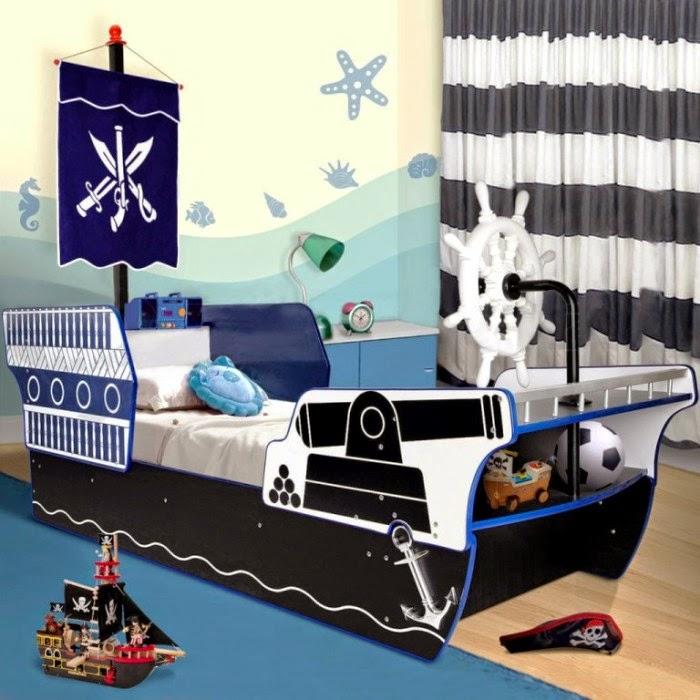 Inspirasi tempat tidur untuk anak model pirate carribean