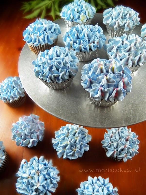 Hydrangea cupcake bouquet mari s cakes english