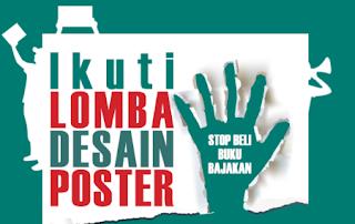 Lomba Desain Poster - Stop Beli Buku Bajakan