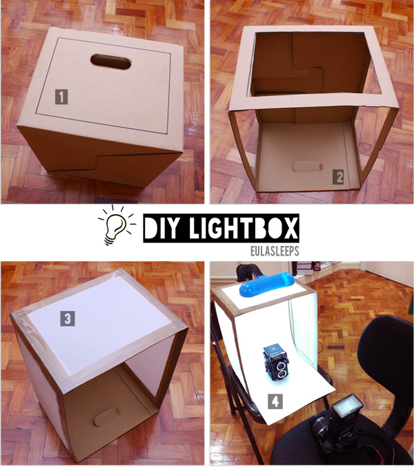 eula sleeps made it monday diy lightbox. Black Bedroom Furniture Sets. Home Design Ideas