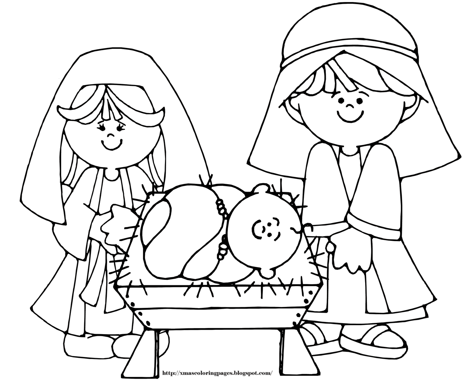 christmas coloring pages baby jesus - photo#9