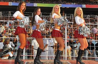 Cheer Girls, wooing the  IPL crowd