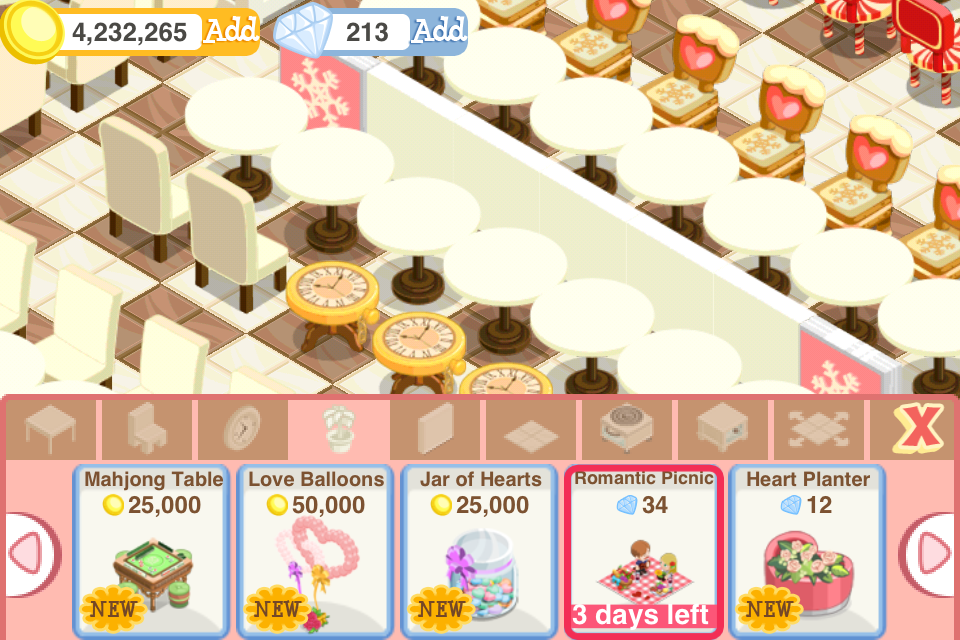 Sami 39 s stories bakery story valentine edition for Bakery story decoration ideas
