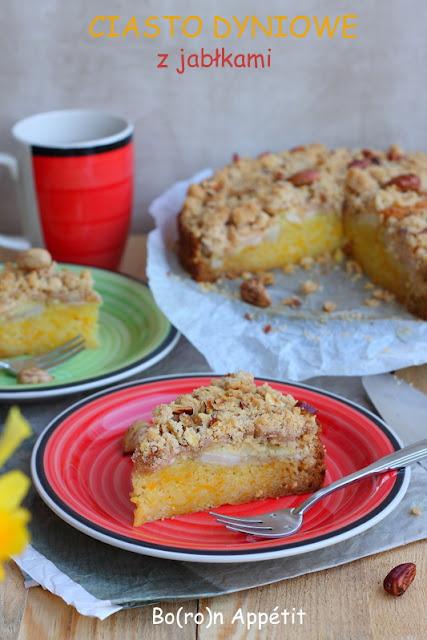 ciasto z dynią i jabłkami