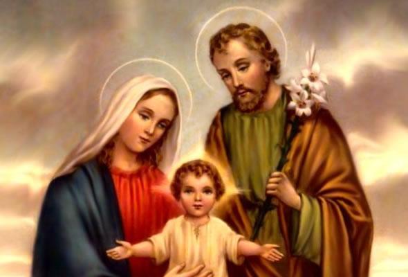 Jesus con una familia