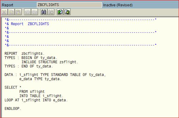 Editor ABAP antiguo después de hacer Pretty Printer