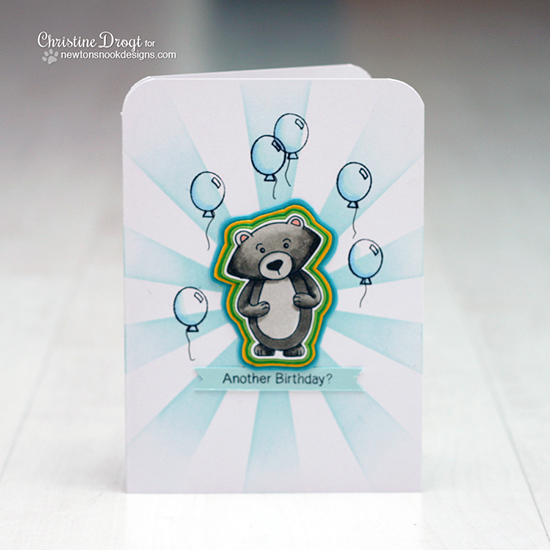 A fun Winston Birthday Card & Video by Christine Drogt for Newton's Nook Designs