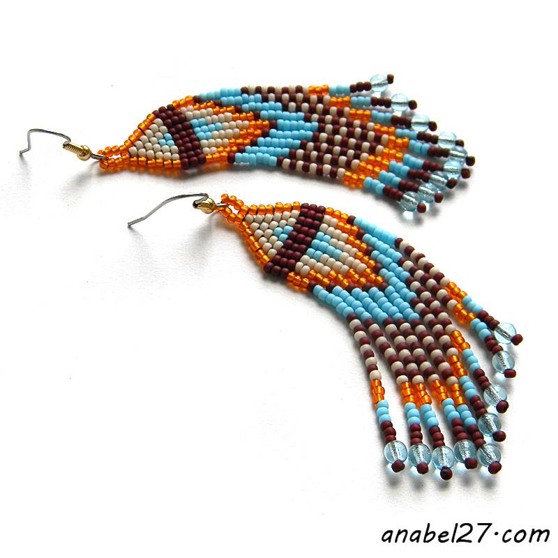 seed bead earrings beadwork jewelry buy handmade