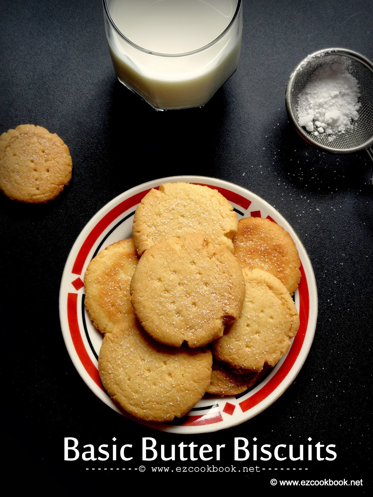 Basic Butter Biscuits(eggless) | How To Make Vanilla Butter ...