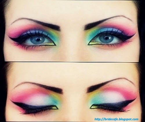 Multi-Color Eye Makeup