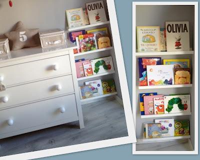 Vistiendo a olivia estanterias para libros for Estanteria pared infantil