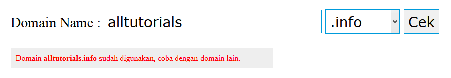 alltutorials.info sudah ada yang menggunakan hehehe...
