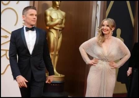 Ethan Hawke y Julie Delpy en los Oscar 2014