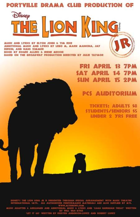 5-13/14/15 The Lion King, Portville