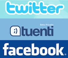 Búscanos y síguenos en Facebook, tuenti y twitter
